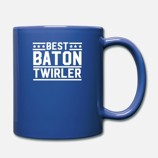 Twirl Mugs & Drinkware - Twirler Twirl Batons Baton Twirling Sports - Full Color Mug royal blue