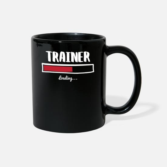 Career Mugs & Drinkware - Funny Trainer Design - Full Color Mug black