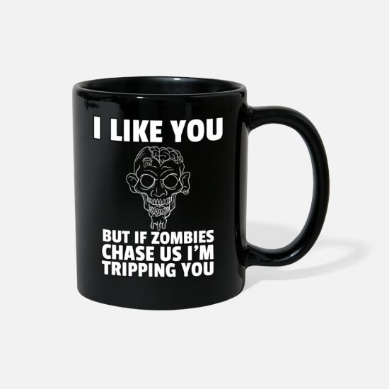 Zombie Apocalypse Mugs & Drinkware - Zombie Undead Monsters Dead Brain Shock Halloween - Full Color Mug black