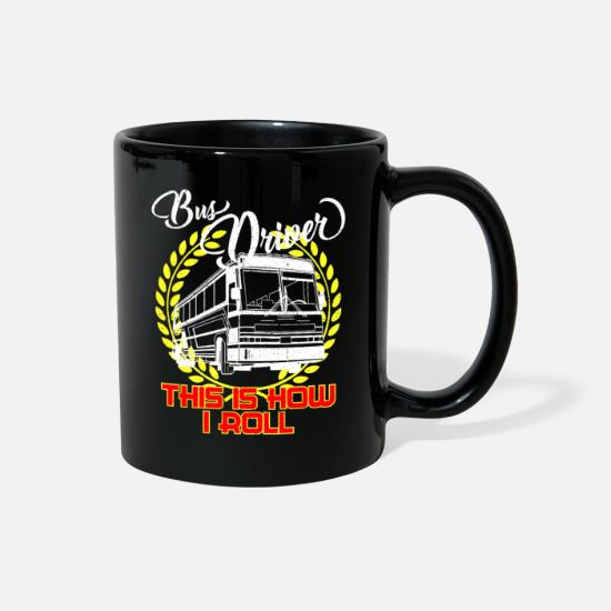 Bus Mugs & Drinkware - Bus driver profession driver gift - Full Color Mug black