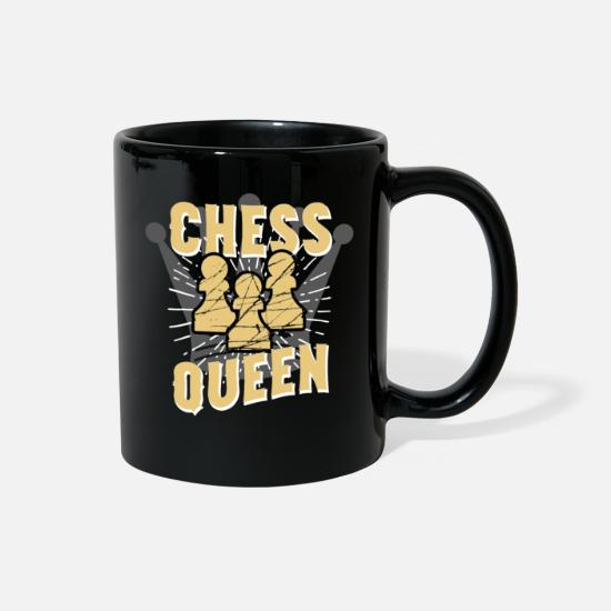 Gift Idea Mugs & Drinkware - Chess Queen - Full Color Mug black
