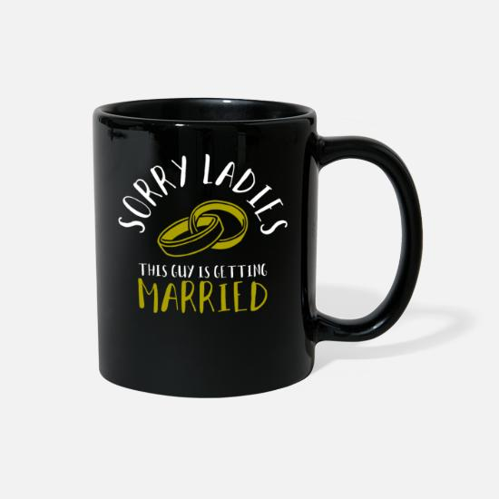 Fiance Mugs & Drinkware - Getting Married - Full Color Mug black
