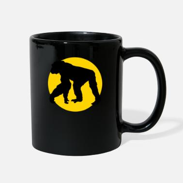 Chimpanzee chimpanzee and moon - Full Color Mug