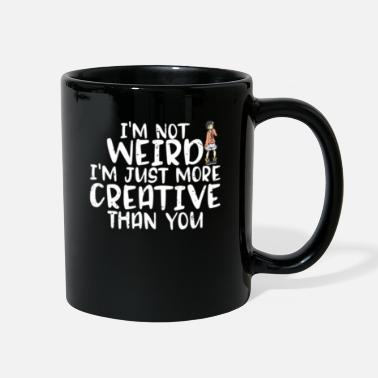 Father Son I'm Not Weird I'm More Creative Than You Funny - Full Color Mug