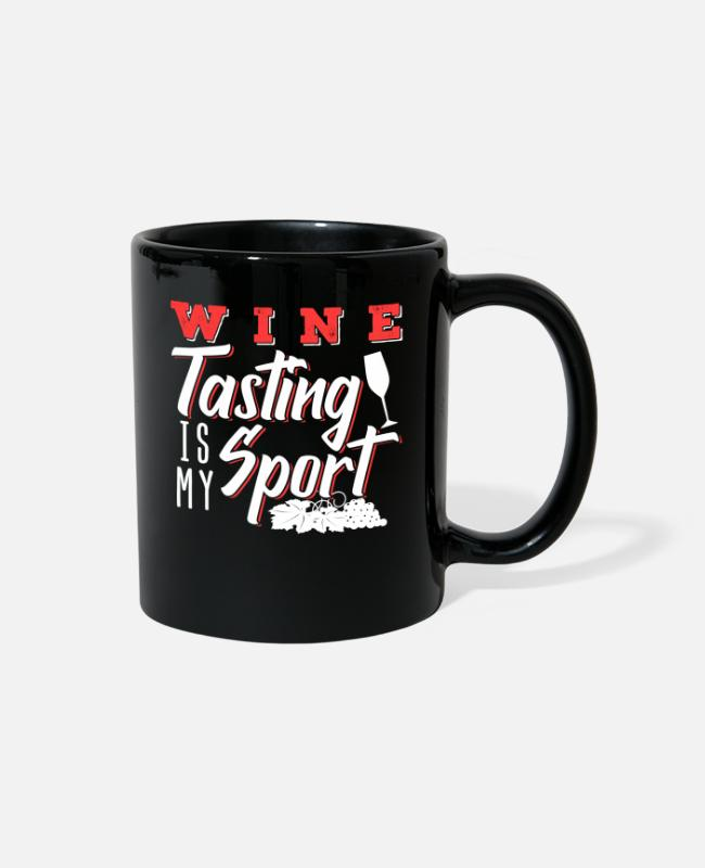 Wine Mugs & Cups - Wine tasting is my Sport - Full Color Mug black