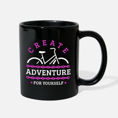 Globe Travel by Bike - create adventure for yourself - Full Color Mug