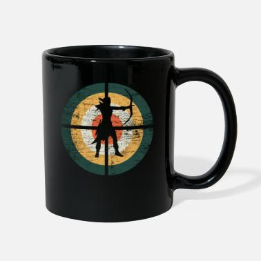 Arrow Bow Archer Vintage Retro - Full Color Mug