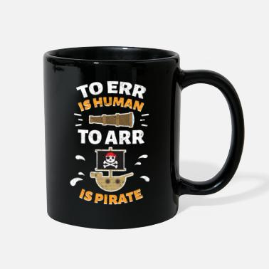 Pirate Design Funny pirate design with skull - Full Color Mug