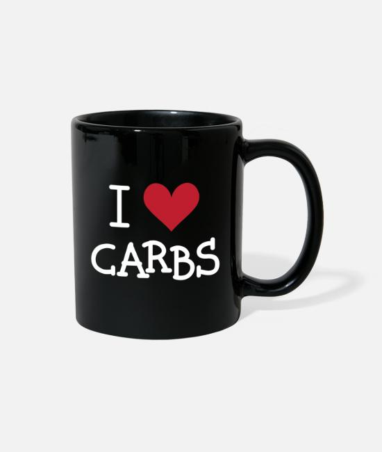 Carbs For Diet Mugs & Cups - I love Carbs - Full Color Mug black