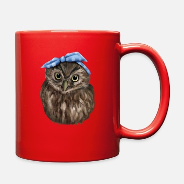 Headband Cute Owl with Headband - Full Color Mug