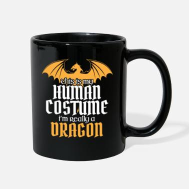 Wicca Halloween Design for Dragon Lovers - Full Color Mug