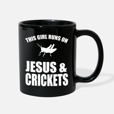Animal Print This Girl Runs On Jesus And Crickets - Full Color Mug