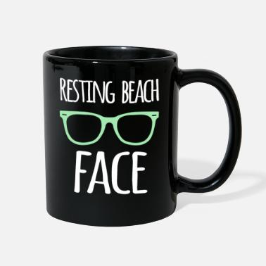 Beachparty Resting Beach Face Funny Gifts For Beach Lovers - Full Color Mug