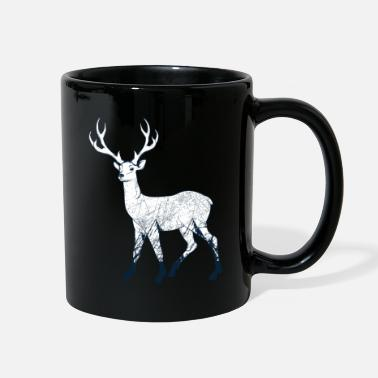 Rural Nature deer forest deer animal mountains life gift - Full Color Mug