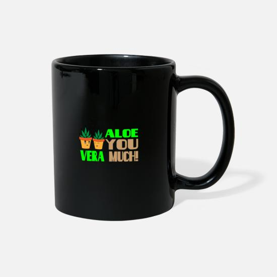 Birthday Mugs & Drinkware - ALOE You very much - Love couple cute - Full Color Mug black