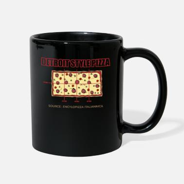 Pizza Detroit Style Pizza Square Pepperoni Pizza Slice - Full Color Mug