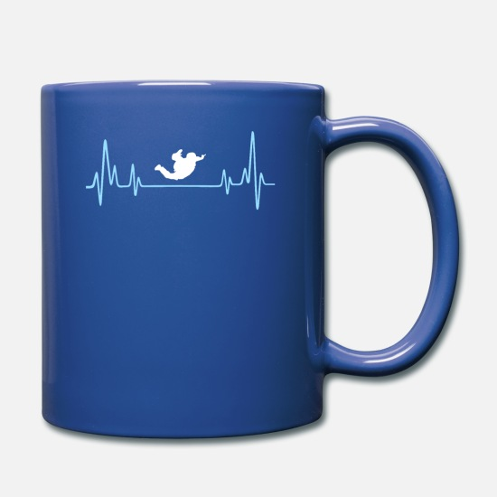 Skydiving Mugs & Drinkware - Skydiving Present For Your Father - Full Color Mug royal blue