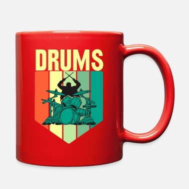 Drum Drum Drumming Drummer gift Funny Quote - Full Color Mug