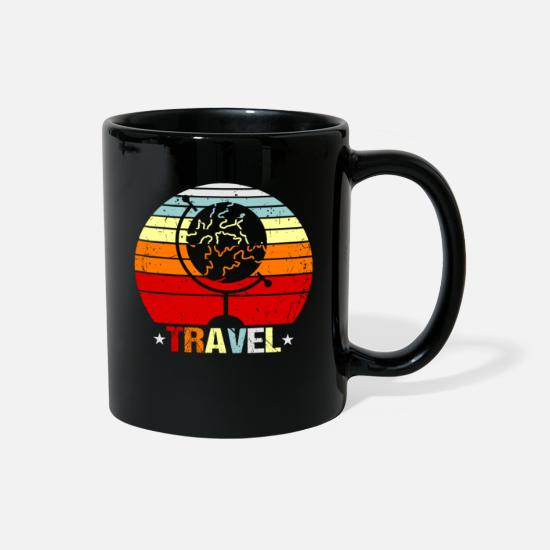 Gift Idea Mugs & Drinkware - Travel Goals Traveler Gift Idea - Full Color Mug black