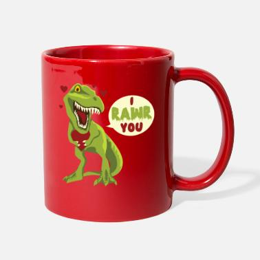 Cupid I Rawr You T-Rex Dinosaur Dino Valentines Day Gift - Full Color Mug