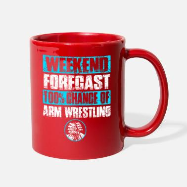 Funny Fitness Funny Arm Wrestling Armwrestler Arm Press Strong - Full Color Mug