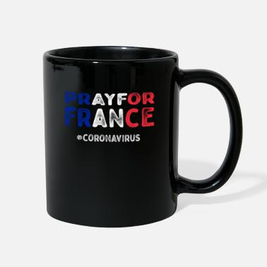 Virus Pray For France corona virus - Full Color Mug