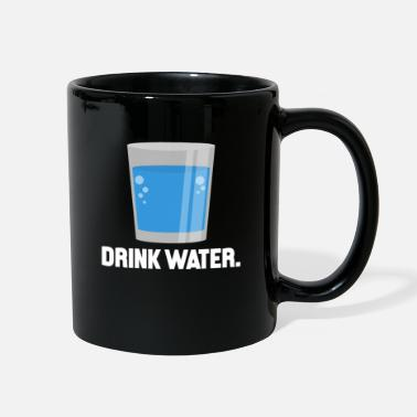 H2o Drink Water Graphic Stay Hydrated H2O Fitness Gym - Full Color Mug