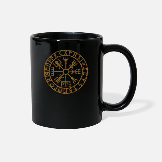 Gift Idea Mugs & Drinkware - Vikings Scandinavian Warriors Gift Idea - Full Color Mug black
