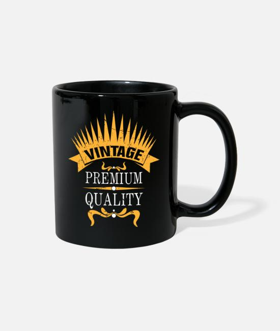 Design Mugs & Cups - Outfit Vintage Men Women - Full Color Mug black