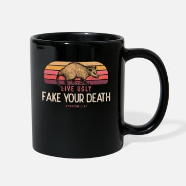 Fake Live Ugly Fake Your Death Opossum Geschenk - Full Color Mug