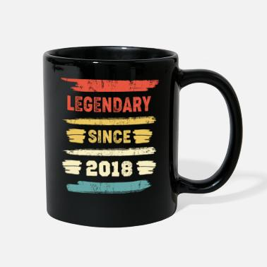 Legendary Retro Birthday Gift - Vintage Legendary Since 2018 - Full Color Mug