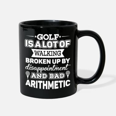 Arithmetic Funny Golf quote bad arithmetic - Full Color Mug
