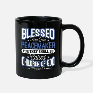 Sheriff Blessed Are The Peacemakers Police Officer Cop - Full Color Mug