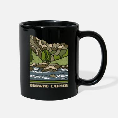 Building Browns Canyon Shirt Nature Souvenir Retro 70s 80s - Full Color Mug