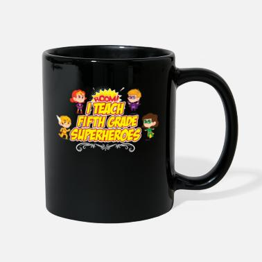 End Fifth Grade I Teach Superhero Teacher Preschool - Full Color Mug