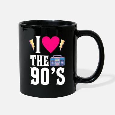 Party 90s heart love generation birthday christmas - Full Color Mug