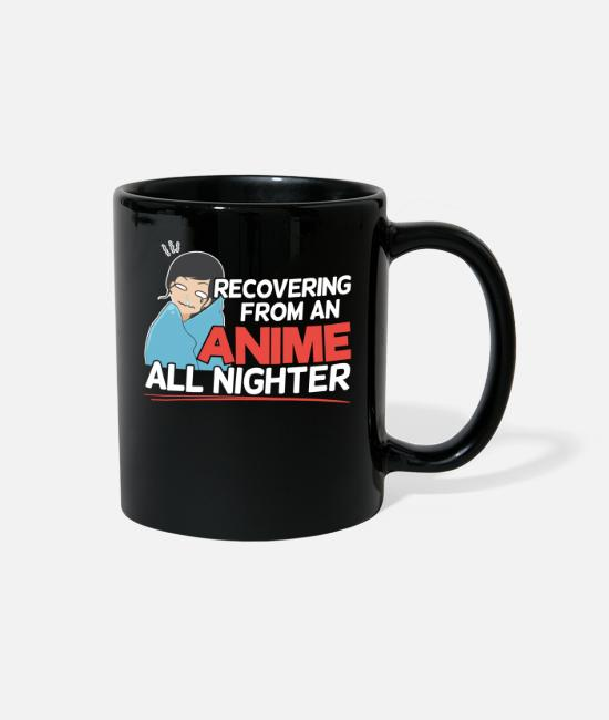 Anime Attack Mugs & Cups - Recovering from an Anime All Nighter - Gift Animes - Full Color Mug black