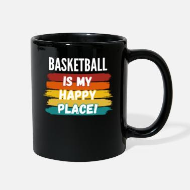 Feeling Basketball Lover Gifts, Basketball Is My Happy Pla - Full Color Mug