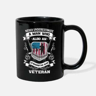 Afghanistan War Veteran Never Underestimate Man an Afghanistan War Veteran - Full Color Mug