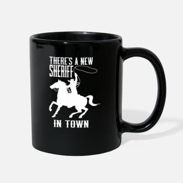 Bandit Sheriff Lasso horse officer village police - Full Color Mug