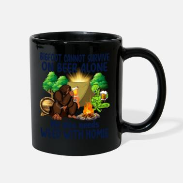 Weed Tent Bigfoot needs weed with Homie - Full Color Mug