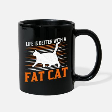 Thick Life is Better with a fat cat Chonk Scale Cat - Full Color Mug