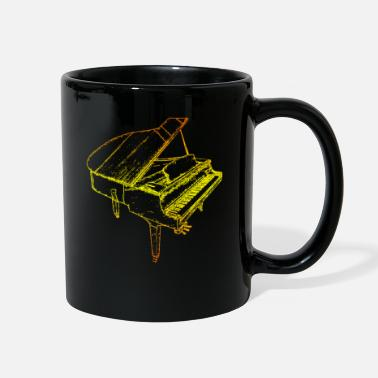 Piano Piano Gift Pianist Piano Music Synthesizer - Full Color Mug