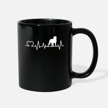 Mountain Sports Swiss Mountain Dog heartbeat Farm Dog gift - Full Color Mug