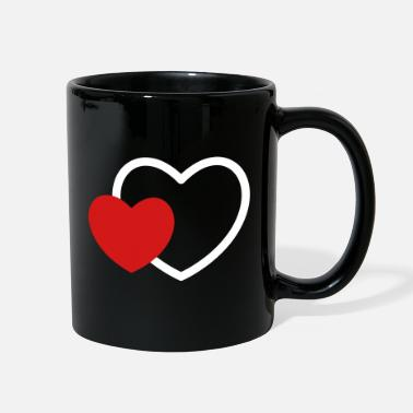 I Heart Heart in the heart I 2 Hearts Love Gift - Full Color Mug