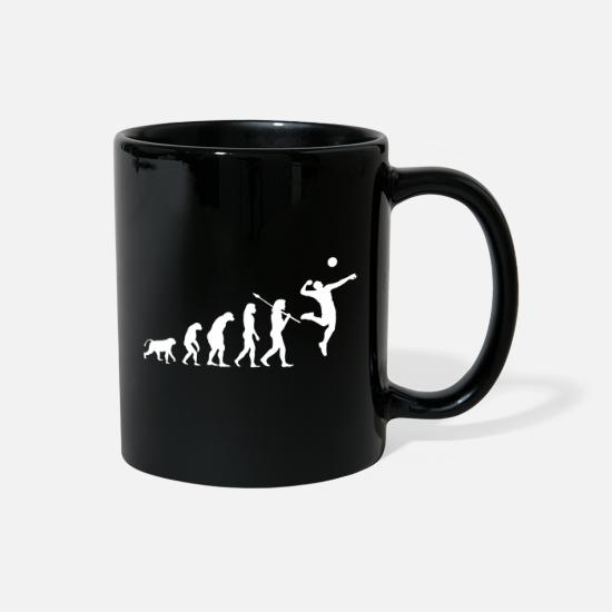 Volleyball Team Mugs & Drinkware - Volleyball Evolution - Full Color Mug black