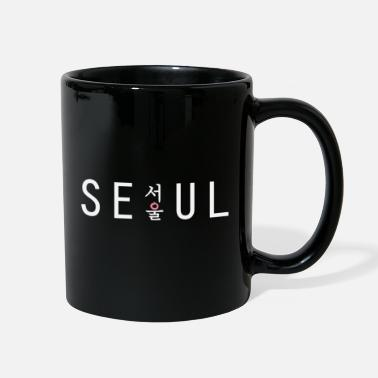 Korean Seoul K-pop with hangul text - Full Color Mug