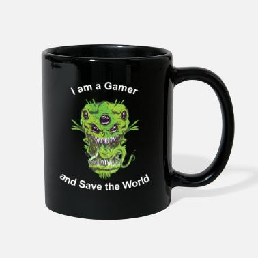 Save World I am a Gamer and Save the World - Full Color Mug