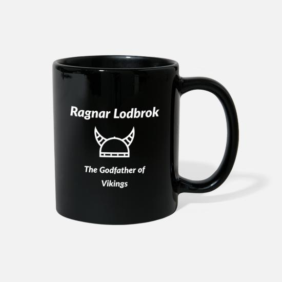 Ragnar Mugs & Drinkware - Ragnar Lodbrok The Godfather of Vikings - Full Color Mug black