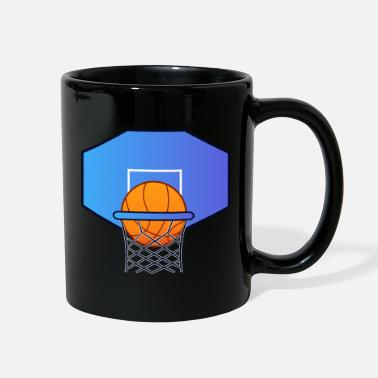 Vector Basketball Hoop Score - Full Color Mug